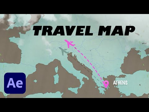 4 AWESOME Travel MAP Animation Templates in Adobe After Effects (Review & Tutorial)