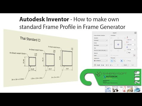 Autodesk Inventor - How to make own standard Frame Profile in Frame Generator