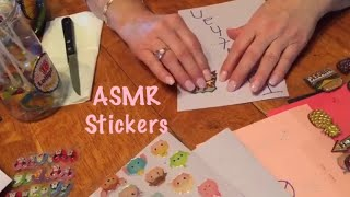ASMR Stickers request/Tape sounds/Plastic crinkles (No talking)