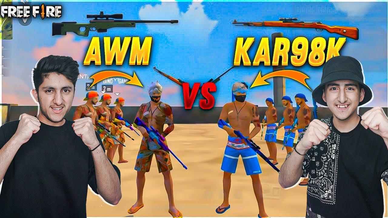 AWM VS KAR98 FACTORY FIGHT CHALLENGE 😂| 4 VS 4 WHO WILL WIN ? AJJU BHAI | #factoryfreefire As Gaming