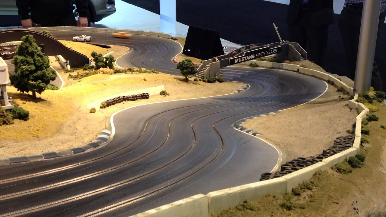 Laguna Seca Raceway >> Custom Ford Mustang Slot Car Track - YouTube