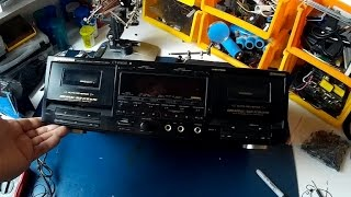 PIONEER CT-W802R dual tape deck{repair rebuild}