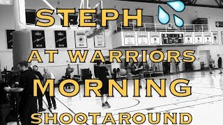 Steph Curry splashes 💦 at Golden State Warriors (18-9) morning shootaround before Timberwolves