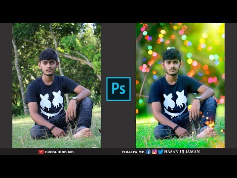 Best Blur Background & Visual Effects Photo Editing    Photoshop CC Tutorial thumbnail