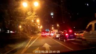 great night vision car dvr at550 dash camera vehicle blackbox road test review