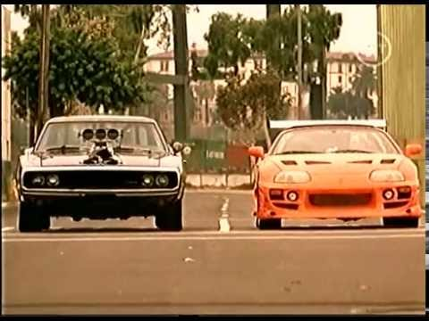 Supra Vs Charger >> Brians supra vs Doms charger - The Fast and the Furious - YouTube