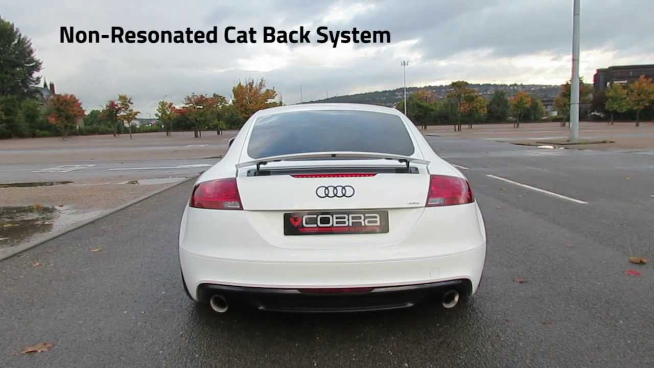 audi tt mk2 2 0 tfsi quattro performance exhaust by cobra. Black Bedroom Furniture Sets. Home Design Ideas