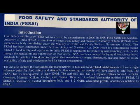 Food safety and standards authority of india (FSSAI) || FSSAI || WHAT IS FSSAI ?