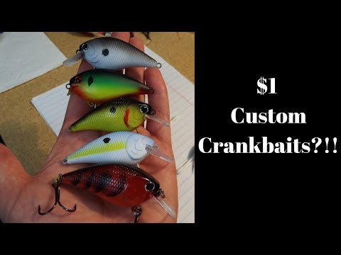 How to custom paint a Crankbait for $1 | How to Paint Fishing Lures