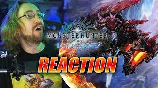 MAX REACTS: Glavenus & Gathering Hub Reveal - Monster Hunter Iceborne Trailer