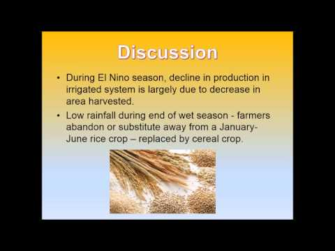 ENSO Impacts on Rice Production in Luzon, the Philippines