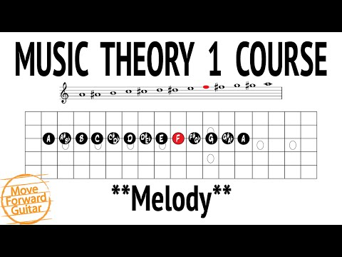 Music Theory 1 Guitar Course – Melody – Lesson 4