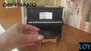 Build vintage piano from Greenleaf furniture kit 1982