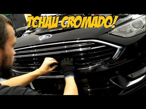 Delete Chrome Ford Fusion 2018 Vw Gol Fibra De Carbono Mais Renault Logan Black Piano Youtube