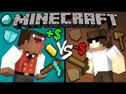 Rich Noob vs. Poor Pro - Minecraft