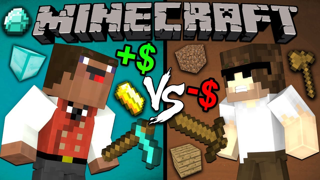 Rich Noob Vs Poor Pro Minecraft