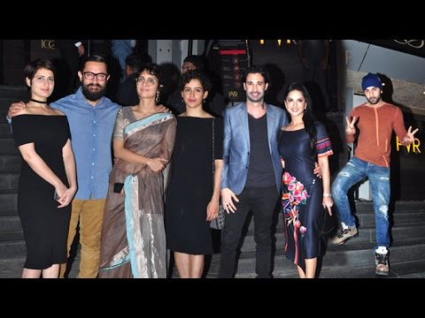 DANGAL Movie GRAND Premiere Full Video HD - Aamir Khan,Sunny Leone,Kiran Rao,Ranbir Kapoor