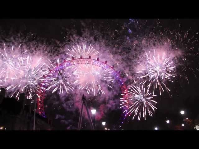 London 2013 New Year Fireworks (HD)