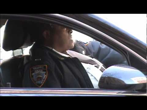 Jimmy Justice - traffic enforcement agent smoking on the job