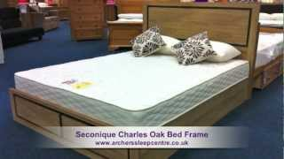 Seconique Charles Oak Bed Frame