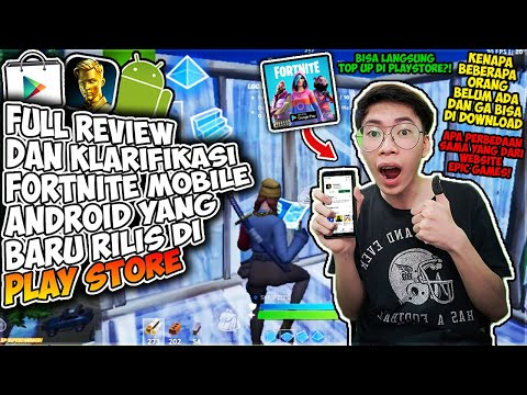 Kabar Baik Fortnite Mobile Akhirnya Rilis Di Google Play Store Android (FULL REVIEW & CARA DOWNLOAD)