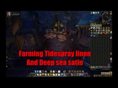 Farming Tidespray linen and Deep sea satin - YouTube