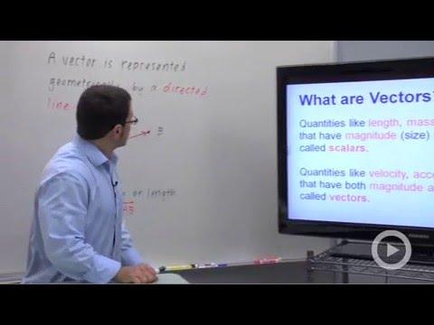 The Geometric Representation of Vectors