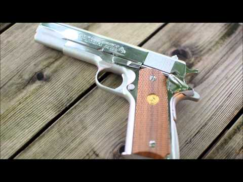 Repeat Cimarron 1911 Nickel Plated with custom Inlaid Grips