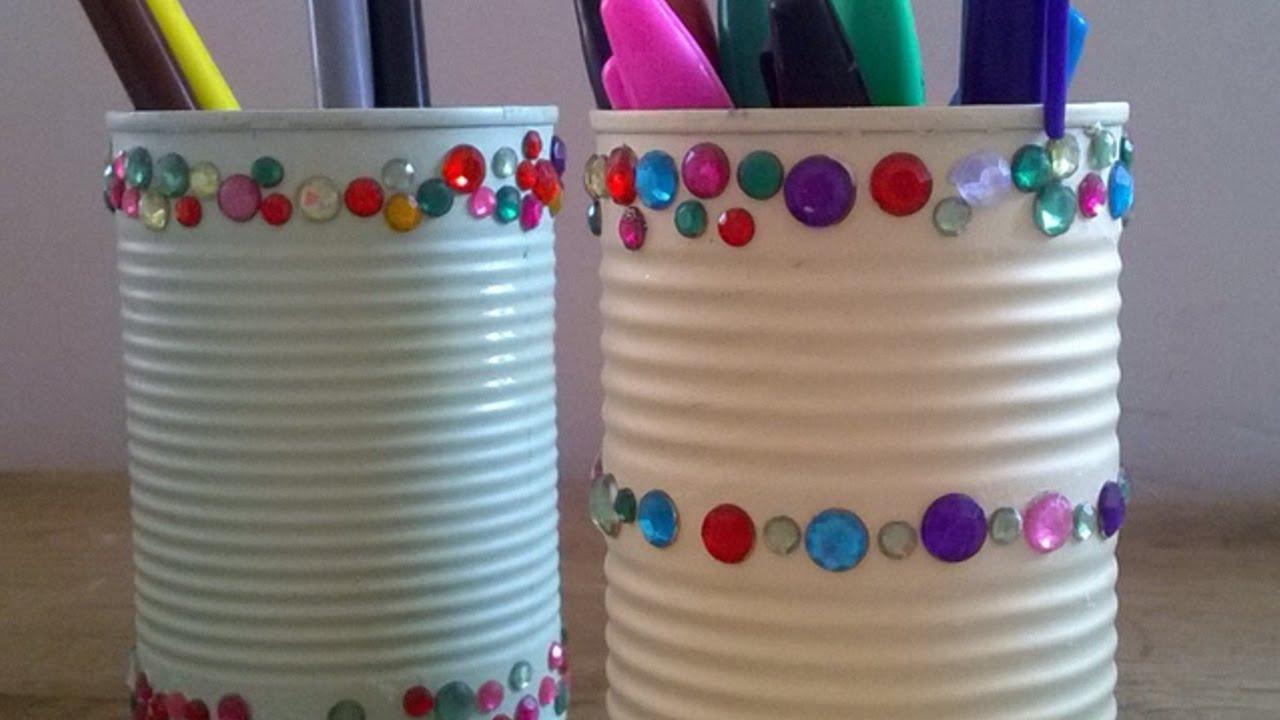 Lampada Barattolo Di Latta : Crea dei bei portapenne con i barattoli di latta fai da te casa