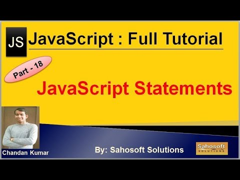 JavaScript Statements: Part - 18 : JavaScript Full Tutorial thumbnail