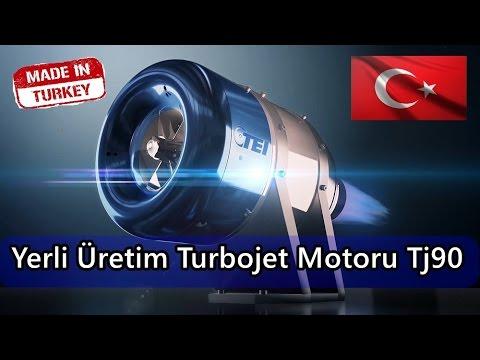 YERLİ ÜRETİM TURBOJET MOTORU TJ90