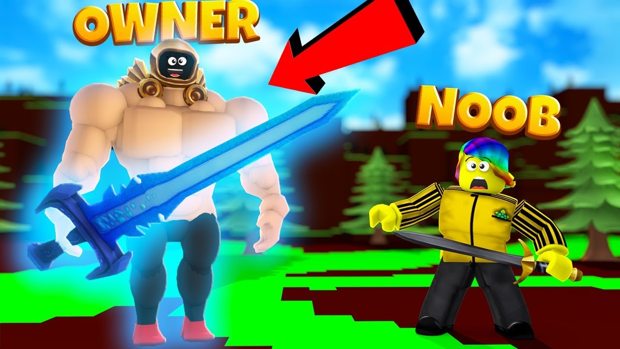 The OWNER joined and used his OWNER ONLY MAX SWORD (Roblox RPG Simulator)