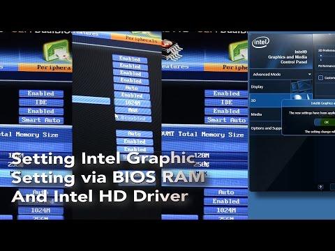 Setting RAM Internal VGA dari Intel Graphic