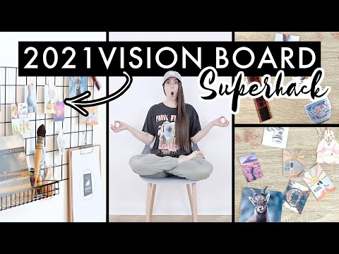⚡ MY 2021 VISION BOARD ⚡// How To Create a DIY Vision Board That ACTUALLY Works (manifestation hack)