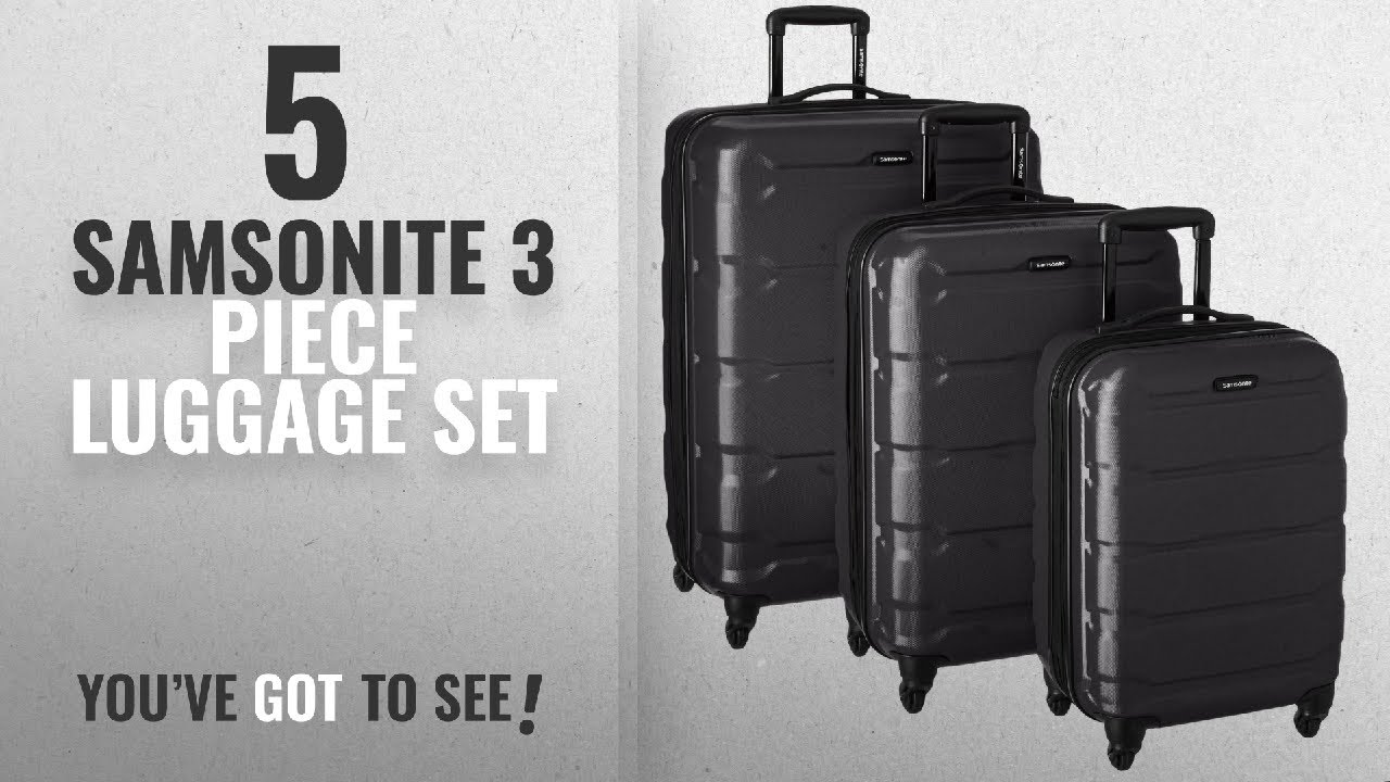 28c17aed7026 Top 10 Samsonite 3 Piece Luggage Set [2018]: Samsonite 68311-1041 Omni PC  Hardside Spinner 20 24