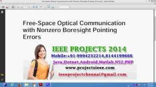 Free Space Optical Communication with Nonzero Boresight Pointing Errors