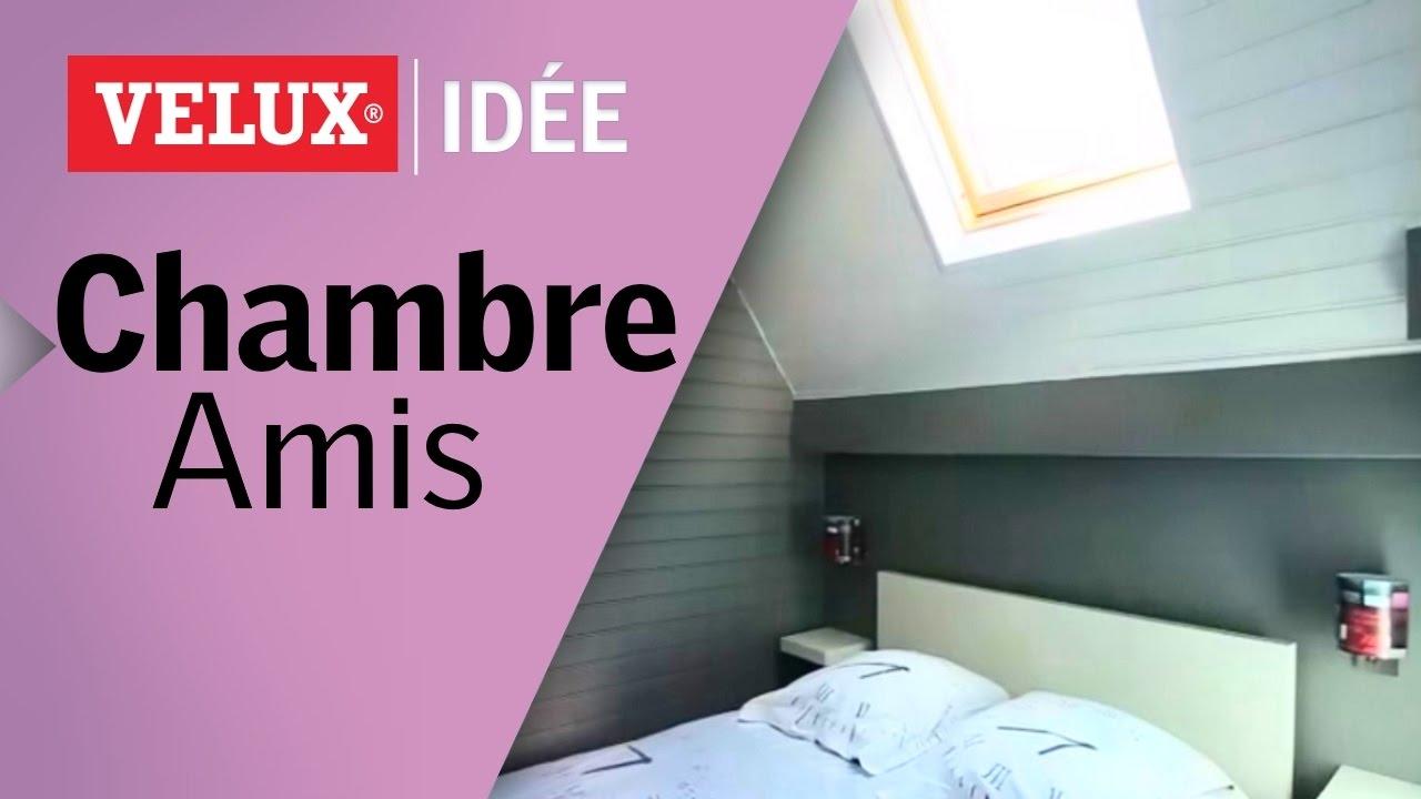 comment cr er une chambre d 39 amis sous les toits youtube. Black Bedroom Furniture Sets. Home Design Ideas