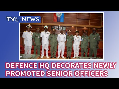 Defence HQ Decorates Newly Promoted Senior Officers