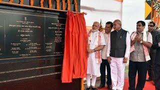 PM Narendra Modi unveils the Plaque to mark Dedication to the Nation Dhola Sadia Bridge