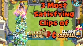 3 Most satisfying video clips from Clash of Clans & Clash Royale