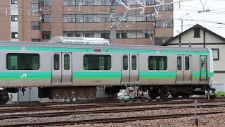E231系マト117編成構内試運転―出場―入区 長野総合車両センター