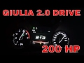 Alfa Romeo GIULIA 2.0 200 HP, driving, ACCELERATION and breaking