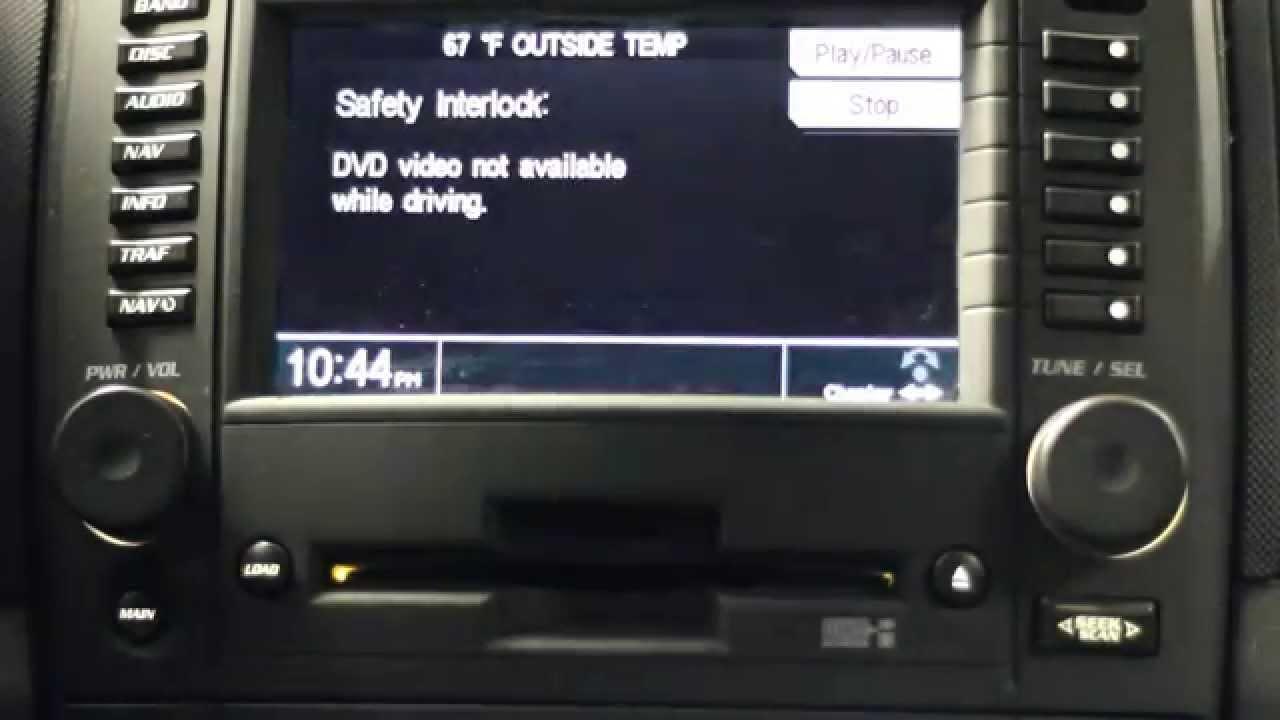 Bypassing 04-07 Cadillac CTS-V DVD Interlock