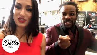 XAVIER WOODS surprises Nikki with WEDDING ADVICE at the WrestleMania press conference!