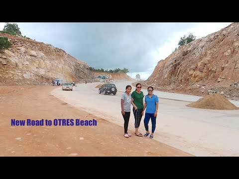 New Concrete Road From Ream Beach To Otres Beach