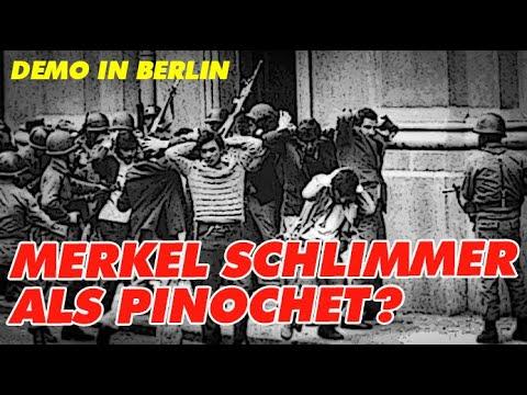 Demo in Berlin: Merkel schlimmer als Pinochet?