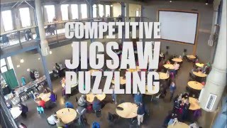 Competitive Jigsaw Puzzling - Duluth Puzzle Derby 2016