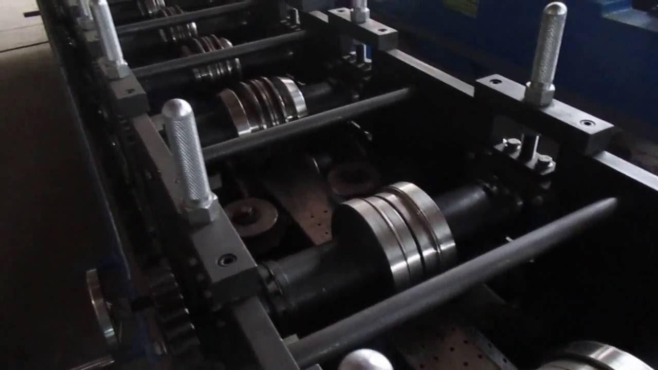 rittal C profile rail forming machine - YouTube