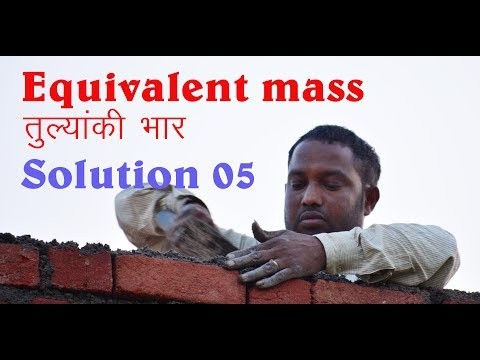 Solution 05 Equivalent Mass