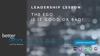 Tony Richards on the Ego. Is it good or bad?